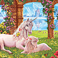 Unicorn Mother And Foal by Steve Crisp