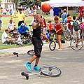 Unicyclist - Basketball - Street Rules  by Mike Savad