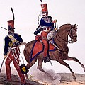 Uniforms Of The 5th Hussars Regiment by Charles Aubry