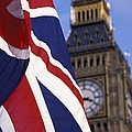 Union Flag And Big Ben by Axiom Photographic