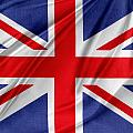 Union Jack Flag by Les Cunliffe