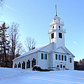 Union Meeting House In West Newbury Vermont by Nancy Griswold