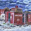Union Pacific Train Car Painting by Timothy Hacker