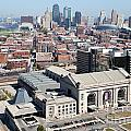 Union Station And Downtown Kansas City by Bill Cobb