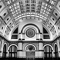 Union Station Lobby Black And White by Kristin Elmquist