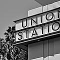 Union Station Sign Black And White by Richard Cheski