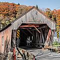 Union Village Covered Bridge Thetford Vermont by Edward Fielding