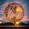 Unisphere At Sunset by Joseph Pellicone