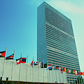 United Nations Building With Flags by Panoramic Images