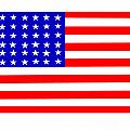 United States 30 Stars Flag by Frederick Holiday