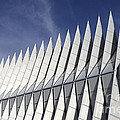 United States Airforce Academy Chapel Colorado by Bob Christopher