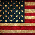 United States American Usa Flag Vintage Distressed Finish On Worn Canvas by Design Turnpike