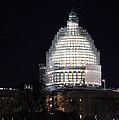 United States Capitol Dome Scaffolding At Night by Cora Wandel