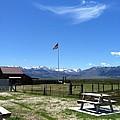 United States Flag Yosemite Mountain by Given Yagi