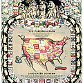 United States Map 1876 by Padre Art