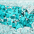 United States Map Collage 8 by Bekim Art