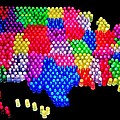 United States Of Lite Brite by Benjamin Yeager