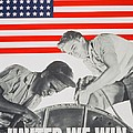 United We Win Us 2nd World War Manpower Commission Poster by Anonymous