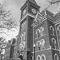 University Hall From Side Black And White  by John McGraw