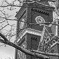 University Hall Tower Black And White  by John McGraw