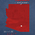 University Of Arizona Wildcats Tuscon Arizona College Town State Map Poster Series No 011 by Design Turnpike