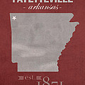 University Of Arkansas Razorbacks Fayetteville College Town State Map Poster Series No 013 by Design Turnpike