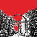 University Of Georgia - Georgia Arch - Red by DB Artist