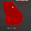 University Of Georgia Bulldogs Athens College Town State Map Poster Series No 040 by Design Turnpike