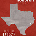 University Of Houston Cougars Texas College Town State Map Poster Series No 045 by Design Turnpike