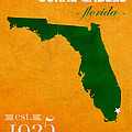 University Of Miami Hurricanes Coral Gables College Town Florida State Map Poster Series No 002 by Design Turnpike