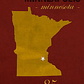 University Of Minnesota Golden Gophers Minneapolis College Town State Map Poster Series No 066 by Design Turnpike