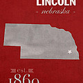 University Of Nebraska Lincoln Cornhuskers College Town State Map Poster Series No 071 by Design Turnpike