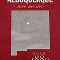 University Of New Mexico Albuquerque Lobos College Town State Map Poster Series No 074 by Design Turnpike