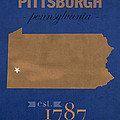 University Of Pittsburgh Pennsylvania Panthers College Town State Map Poster Series No 089 by Design Turnpike
