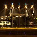 University Of Tampa At Night by John M Bailey