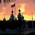 University Of Tampa Minerets At Sunset by John Black