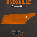 University Of Tennessee Volunteers Knoxville College Town State Map Poster Series No 104 by Design Turnpike