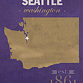 University Of Washington Huskies Seattle College Town State Map Poster Series No 122 by Design Turnpike