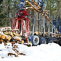 Unloading Of Logs On Transport by Jeelan Clark