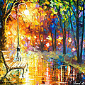 Unresolved Feelings - Palette Knife Oil Painting On Canvas By Leonid Afremov by Leonid Afremov