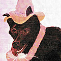 Untitled Dog With Hat by Brenda L  Baker