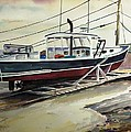Up For Repairs In Perkins Cove by Scott Nelson