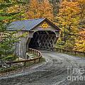 Upper Falls Covered Bridge by Claudia Kuhn