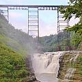Upper Falls Under The Portage Bridge by Laurie Tracy