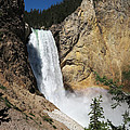 Upper Falls Yellowstone National Park by Laurel Powell