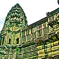 Upper Level Tower In Angkor Wat In Angkor Wat Archeological Park Near Siem Reap-cambodia by Ruth Hager