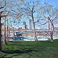 Upper Rapids Of Niagara Falls Ny by Ylli Haruni