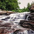 Upper Swallow Falls Close Up by Chris Flees