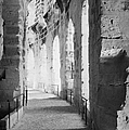 Upper Walkway With Arches Of The Old Roman Colloseum At El Jem Tunisia by Joe Fox