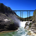 Upper Waterfalls In Letchworth State Park by Paul Ge